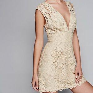 Nude lace Free People Dress